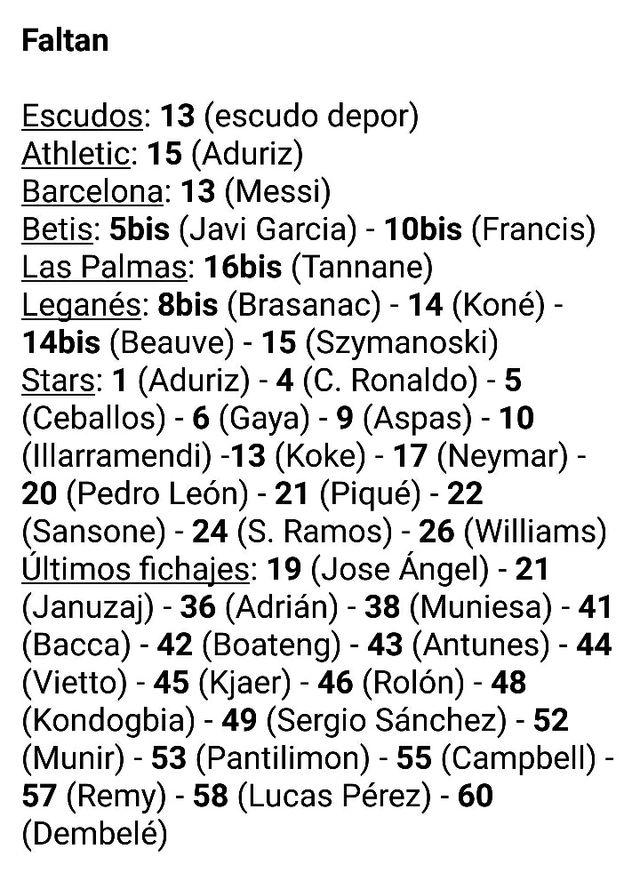 cromos liga 2017 - 2018