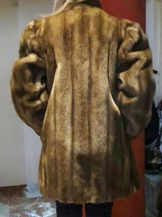 Abrigo sintetico de imitación Vison