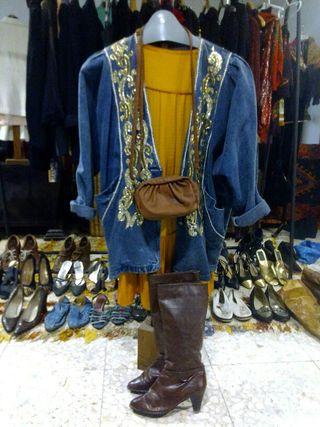 Vestido Vintage con Chaqueta Vintge