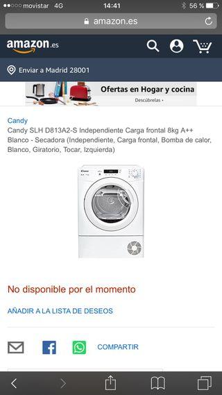 Secadora Candy 8kg A++