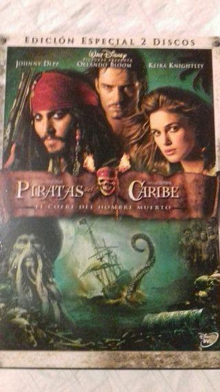 Dvd piratas del caribe. El cofre del hombre muerto