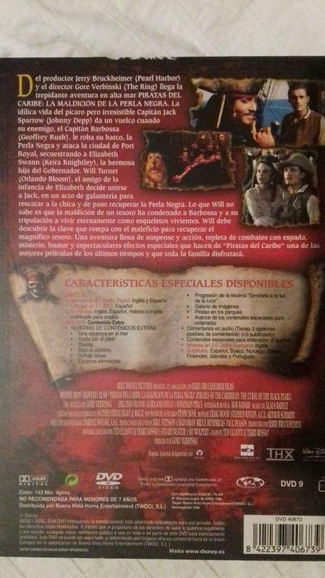 Dvd Piratas del Caribe. La maldición de la Perla N