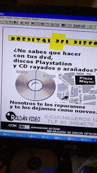Reparaciones Discos DVD y CD