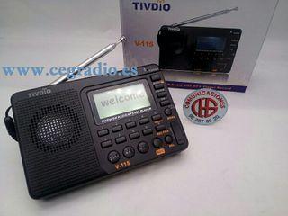 TIVDIO Receptor Radio FM/AM/SW MP3 Con Grabadora