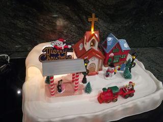 Pueblo navideño electrónico
