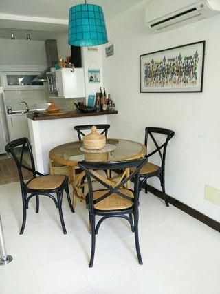 Mesa madera cristal y 4 sillas comedor salon de segunda mano por 250 en las marinas wallapop - Wallapop mesa comedor ...