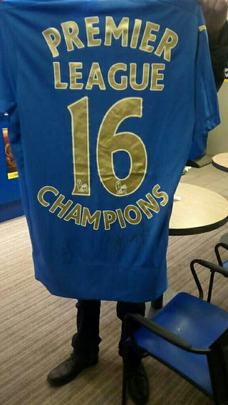 Football shirt signed