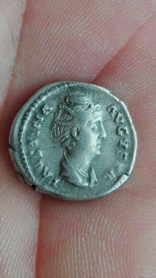 denario de Faustina la mayor