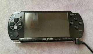 PSP 3000 SLIM BLACK 20 JUEGOS FUNDAS
