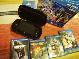 PS Vita con 4 juegos sin apenas uso!!