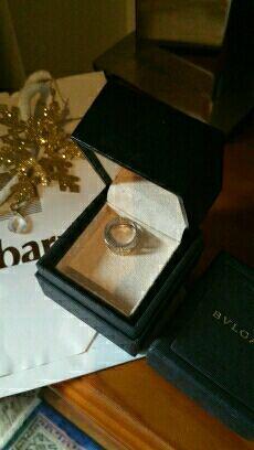 BULGARI BVLGARI anillo oro blanco modelo paréntesi