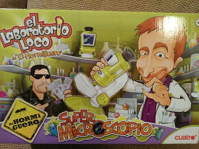 Microscopio del laboratorio loco del Hormiguero