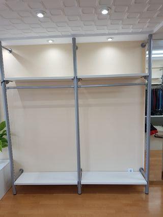 22 estanterias con tubos incluidos