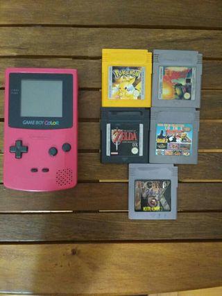 Consola nintendo game boy color con juegos