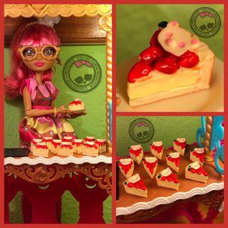 Pastelería Miniatura - Tarta Queso y Fresas Rilakkuma