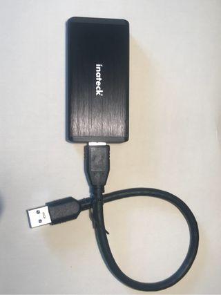 Disco duro SSD 250 GB + Carcasa (msata)