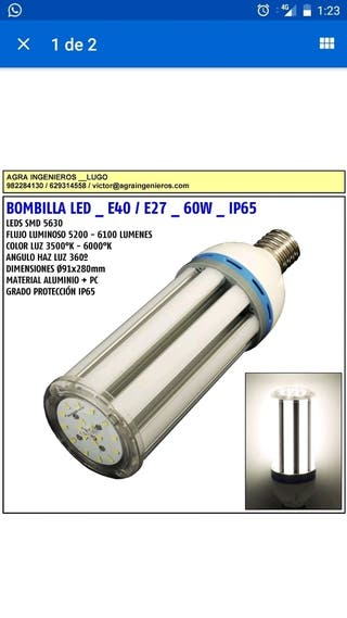 bombilla para farola e40 60w 6100lumen