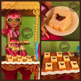 Pastelería Miniatura - Tostada Crema Avellanas Rilakkuma