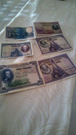 se vende billetes antiguos