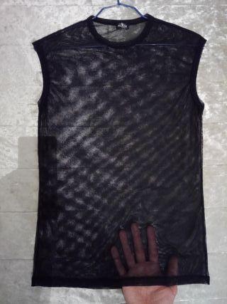 Camiseta transparente hombre