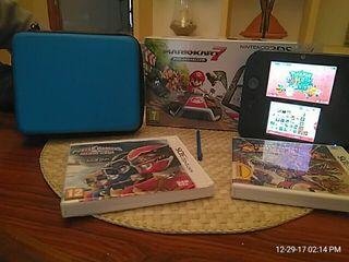 Nintendo 2Ds + 2 juegos + funda rígida
