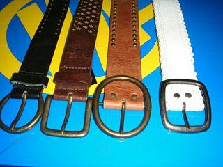 cuatro cinturones buen estado cuero alguno