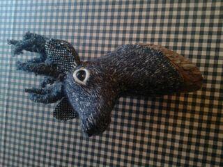 Cabeza ciervo lana
