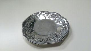 6 platos pequeños de peltre 19 cm