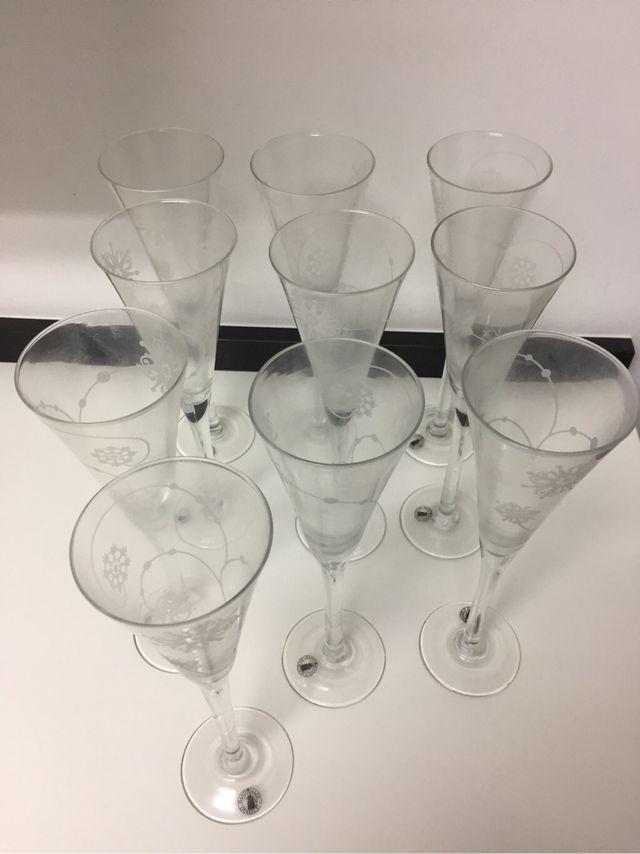 Juego de copas de champagne