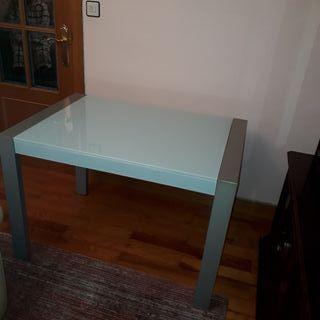 Mesa cristal cocina