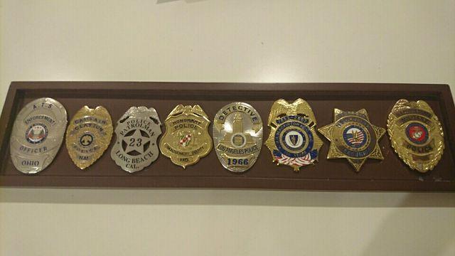 Coleccion de placas de policia de EEUU