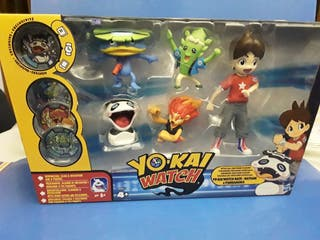 pack 5 figuras con 4 medallas yokai watch