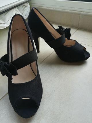 zapatos tacon talla 37-38