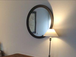 Espejo vintage de pared redondo