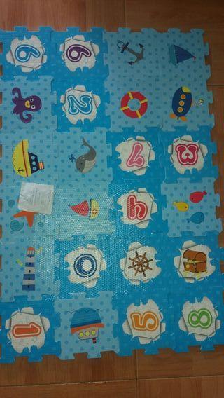 puzzle alfombra niños