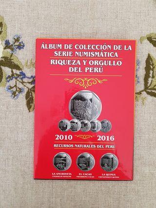 Álbum monedas Riqueza y Orgullo del Perú 10-16