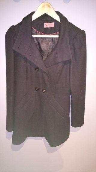 abrigo de vestir negro paño