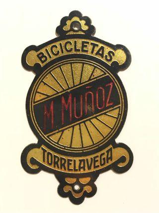 Chapa placa bicicleta antigua