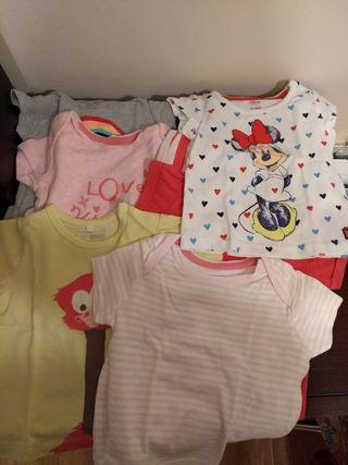 Camisetas bebé talla 3 meses