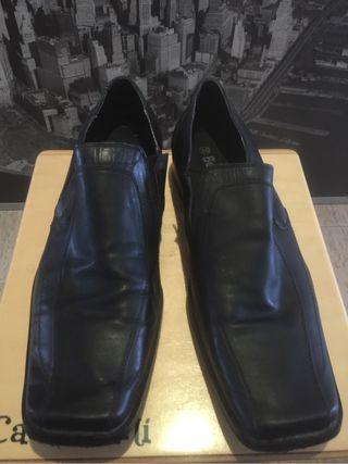 Zapatos hombre negro piel taller 45