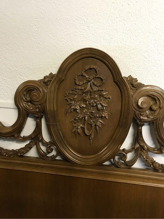 Cabecero cama madera tallada de segunda mano por 50 en cabrils en wallapop - Cabecero madera tallada ...
