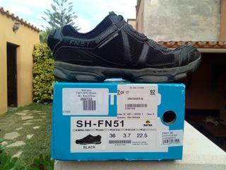 Zapatillas shimano sh-fn51 spinning mtb talla 36