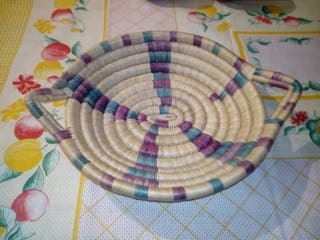 centro de mesa cesta antigua