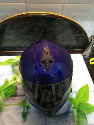 casco de moto shark rsi azul