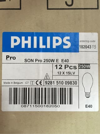 Lampara de sodio Philips 250w