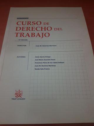 libro curso de derecho del trabajo