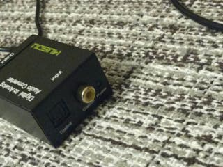 Convertidor de óptico a rca