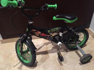 Bicicleta tortugas ninja niños