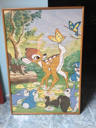 Cuadro madera Bambi en perfecto estado