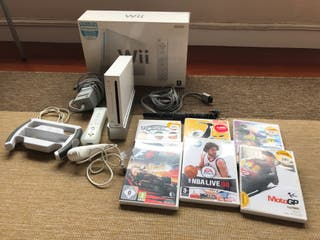 Wii consola con juegos